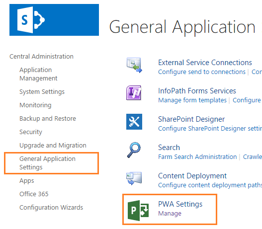 Missing Site Creation Settings in Project Server 2016