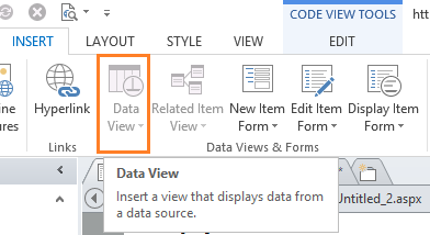 DataView is grayed out in SharePoint Designer 2013