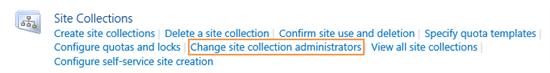 """Modifier les administrateurs de la collection de sites dans Project Server 2016 """"srcset ="""" https://mohamedelkassas.files.wordpress.com/2017/10/change-site-collection-administratos-in-project-server-2016.png 550w, https: / /mohamedelkassas.files.wordpress.com/2017/10/change-site-collection-administratos-in-project-server-2016.png?w=150 150w, https://mohamedelkassas.files.wordpress.com/2017/ 10 / change-site-collection-administratos-in-project-server-2016.png? W = 300 300w """"tailles ="""" (largeur maximale: 550px) 100vw, 550px"""