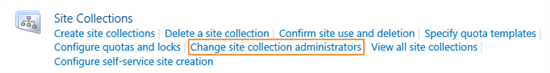 Change site collection administrators in Project Server 2016