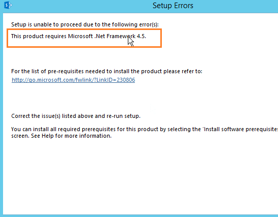 This Product Requires Microsoft .Net Framework 4.5