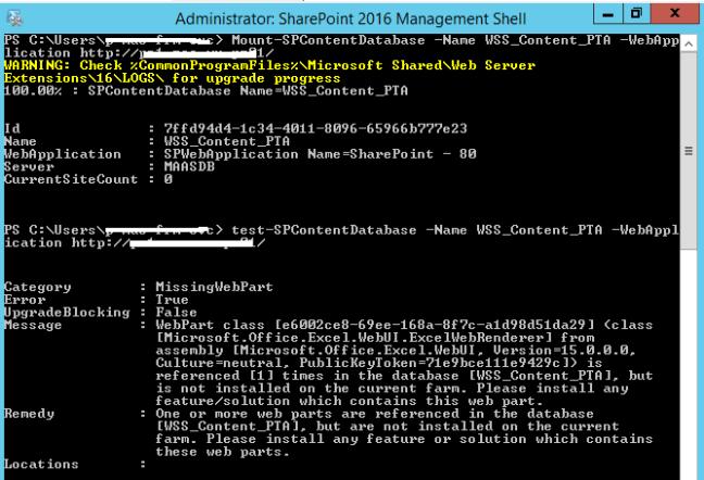 """Tester la base de données de contenu PWA - Mise à niveau de Project Server 2013 à 2016 """"srcset ="""" https://mohamedelkassas.files.wordpress.com/2017/10/test-spcontentdatabase-project-server-2016.png?w=648 648w, https : //mohamedelkassas.files.wordpress.com/2017/10/test-spcontentdatabase-project-server-2016.png? w = 150 150w, https://mohamedelkassas.files.wordpress.com/2017/10/test- spcontentdatabase-project-server-2016.png? w = 300 300w, https://mohamedelkassas.files.wordpress.com/2017/10/test-spcontentdatabase-project-server-2016.png 667w """"tailles ="""" (max- largeur: 648px) 100vw, 648px"""