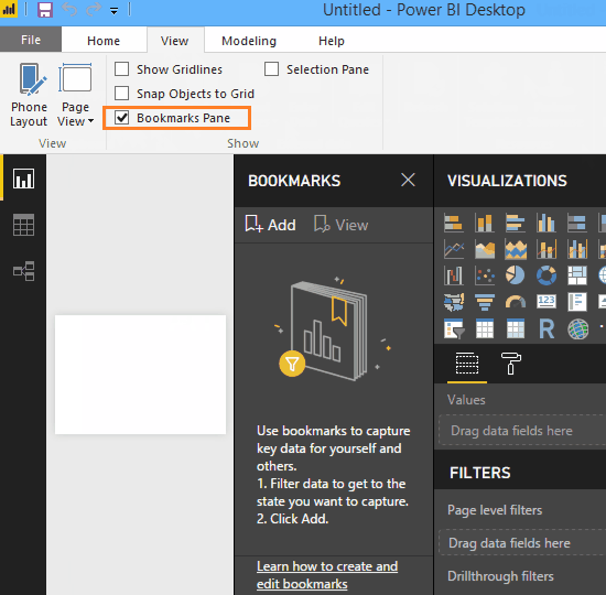 Bookmarking preview Feature in Power BI