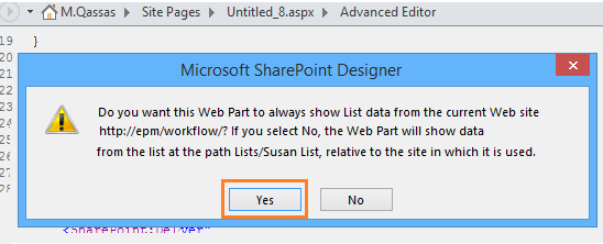 SharePoint 2016: Show a List From Parent Site In Sub Site