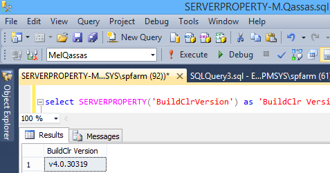 SERVERPROPERTY('BuildClrVersion')
