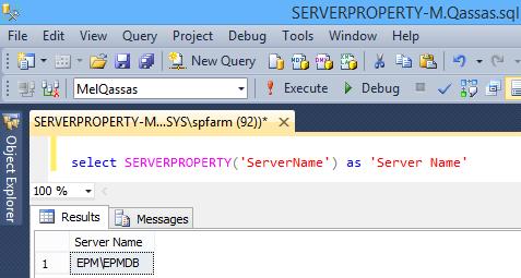 SERVERPROPERTY('ServerName')