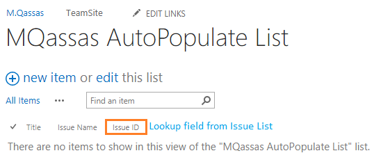 Auto Populate List form fields based on Lookup Selection In SharePoint