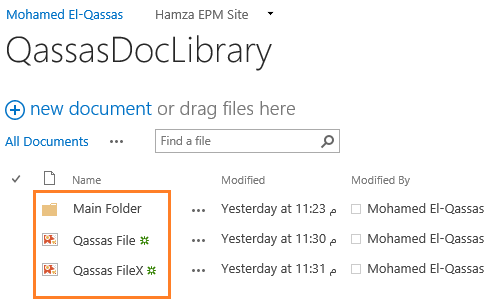 Show SharePoint Document Library files with folders and