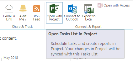 Open Tasks List In Project