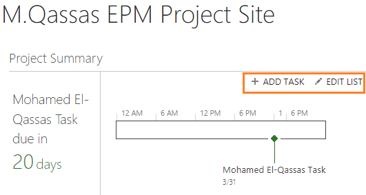 Project Summary Web Part in Project Server