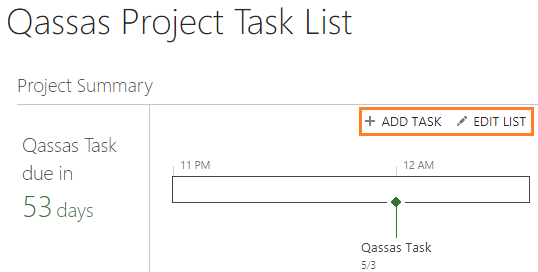 Missing Add Task in Project Summary Web Part