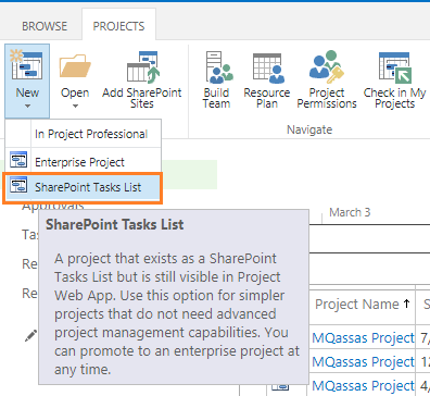 Project Types In Project Server