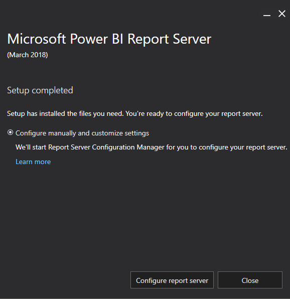Configure Power BI Report Server