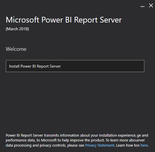 Install and Configure Power BI Report Server
