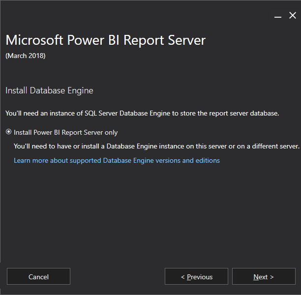 Install Power BI Report Server Only