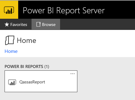 Power BI Report in Report Server