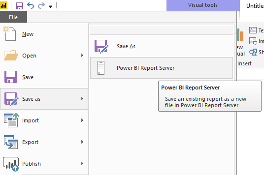 Publish a report to Power BI report Server