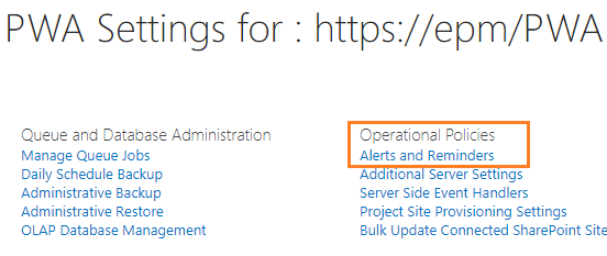 Alerts and Reminders in Project Server 2013