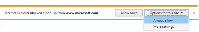 always allow to download from microsoft site