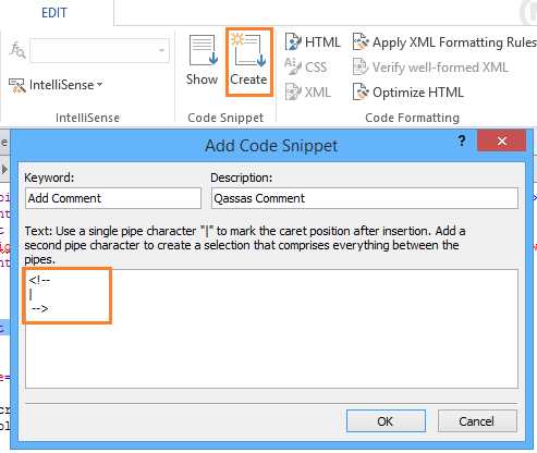 Code Snippet in SharePoint Designer
