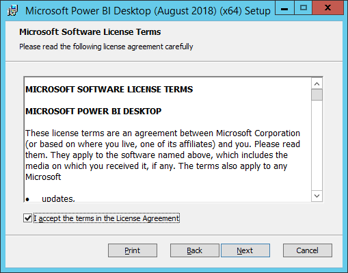 install power bi desktop for report server aug 2018