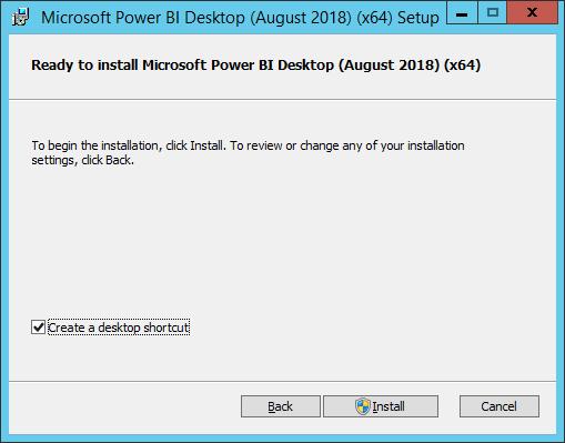 install power bi desktop for report server august 2018
