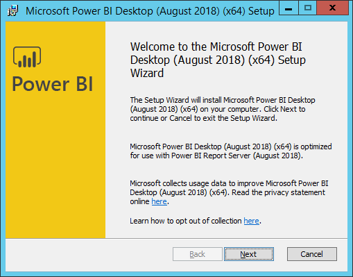 install power bi desktop for report server