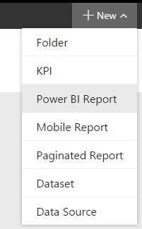 new power bi report in report server