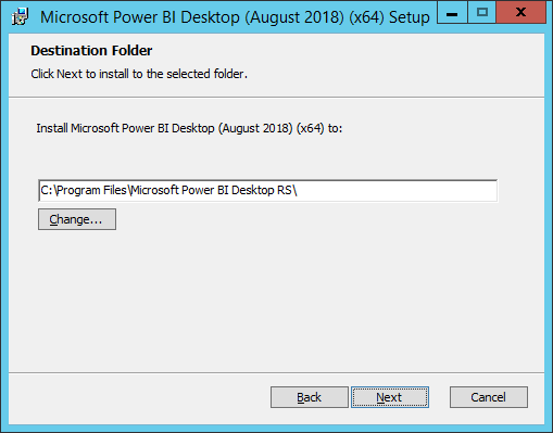 power bi desktop for report server aug 2018 installation
