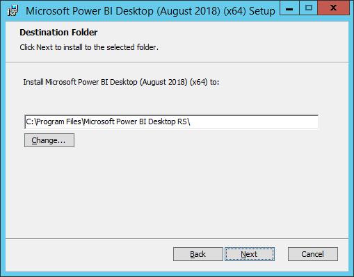 power bi desktop for report server aug 2018 installation