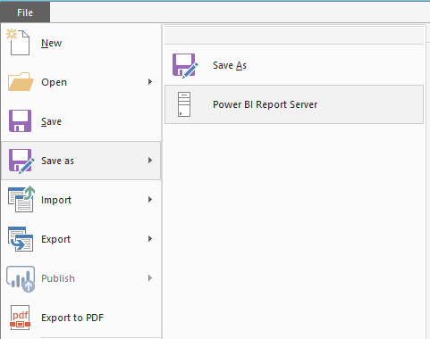 save report to power bi desktop for report server