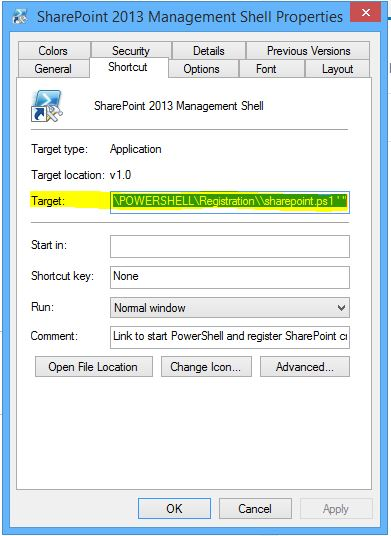 Run SharePoint Management Shell with old version