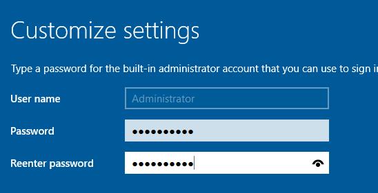 Windows Server 2016 with GUI desktop experience